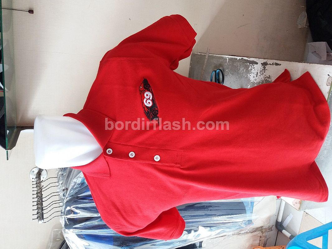 Polo Shirt Double Katun Merah